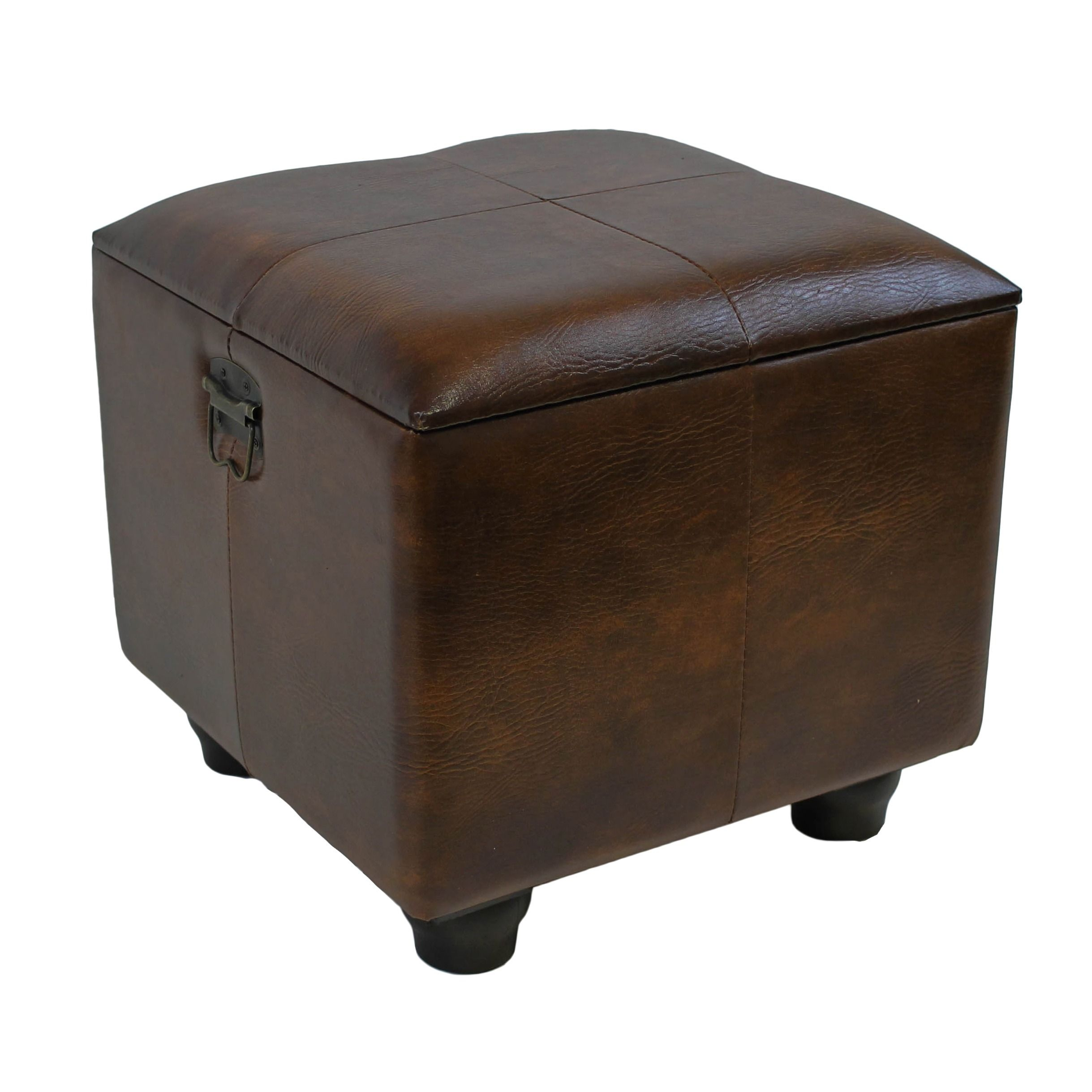International Caravan Square Storage Ottoman With Ball Feet Ping Great Deals On
