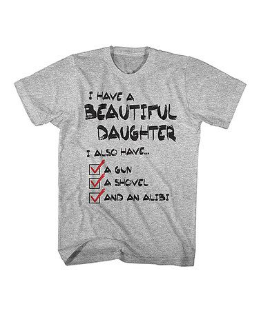 Love this Gray Heather 'Beautiful Daughter' Tee on #zulily! #zulilyfinds