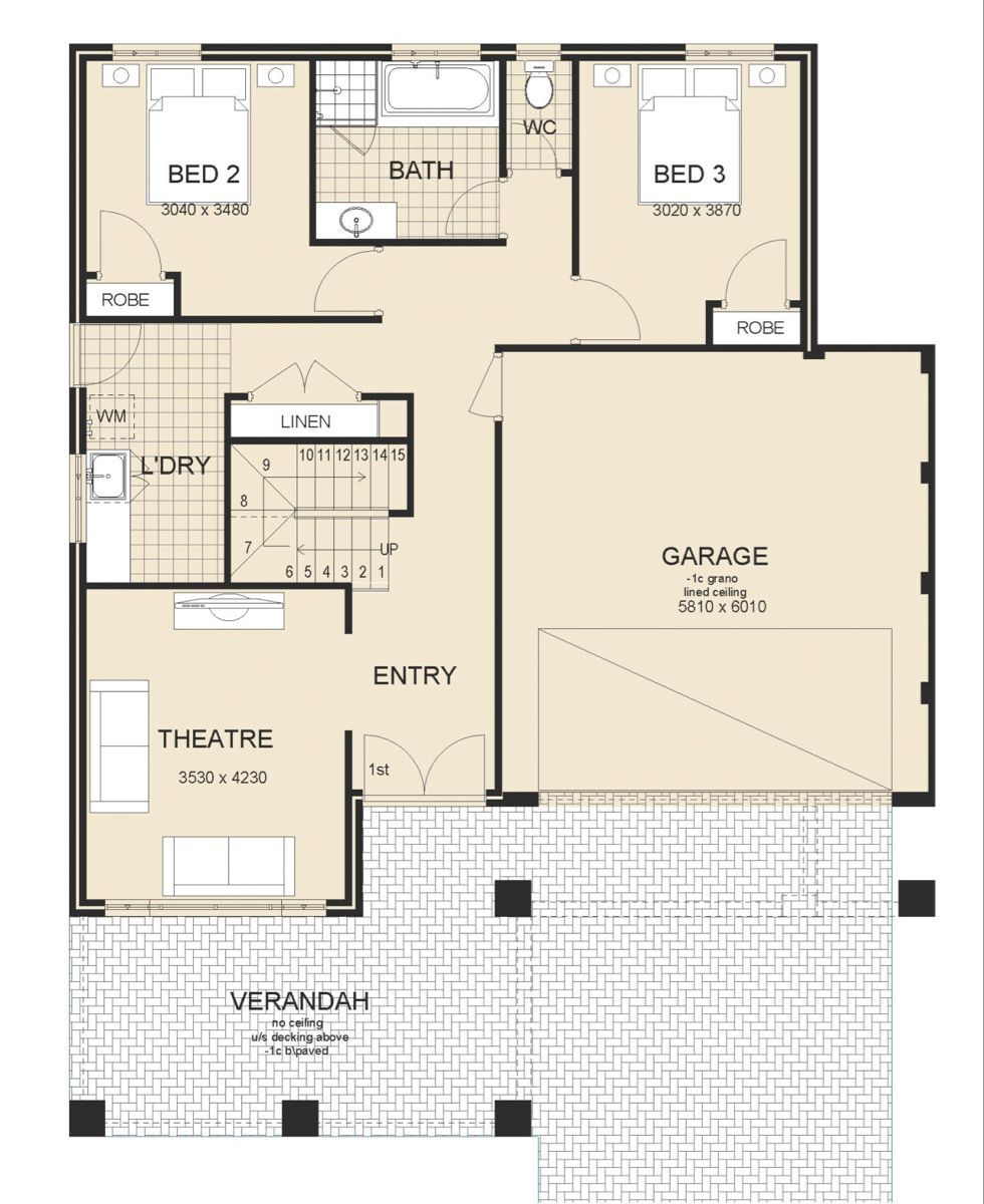 San Remo Series 1 Upstairs Living New 2 Storey Homes