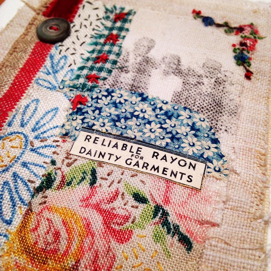 Fabric, paper and stitch