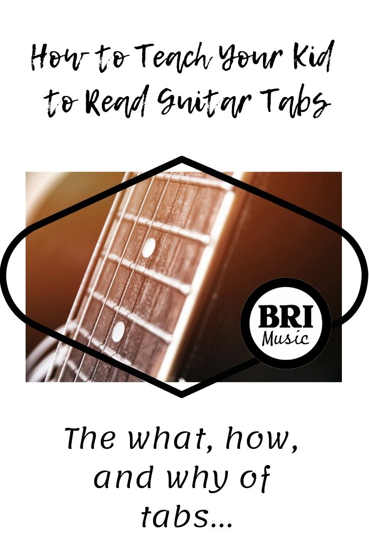 How to teach your kid to read guitar tabs teaching