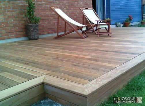 Terrasse bois finition d co ext rieur architecture Bordure carrelage exterieur