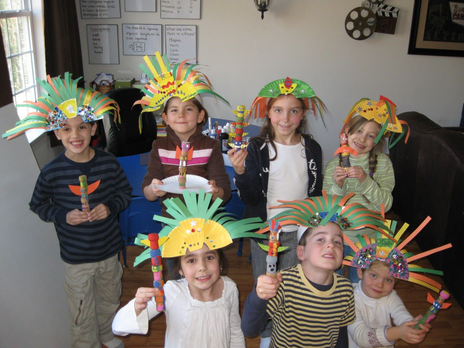 Aztec Warrior Headdress Craft Kids