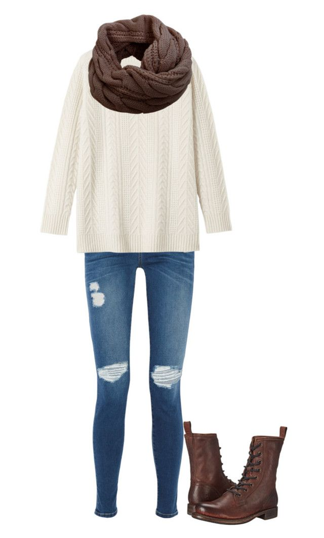 """""""Fall cutie"""" by annisten on Polyvore featuring Current/Elliott, Toast, Humble Chic and Frye"""