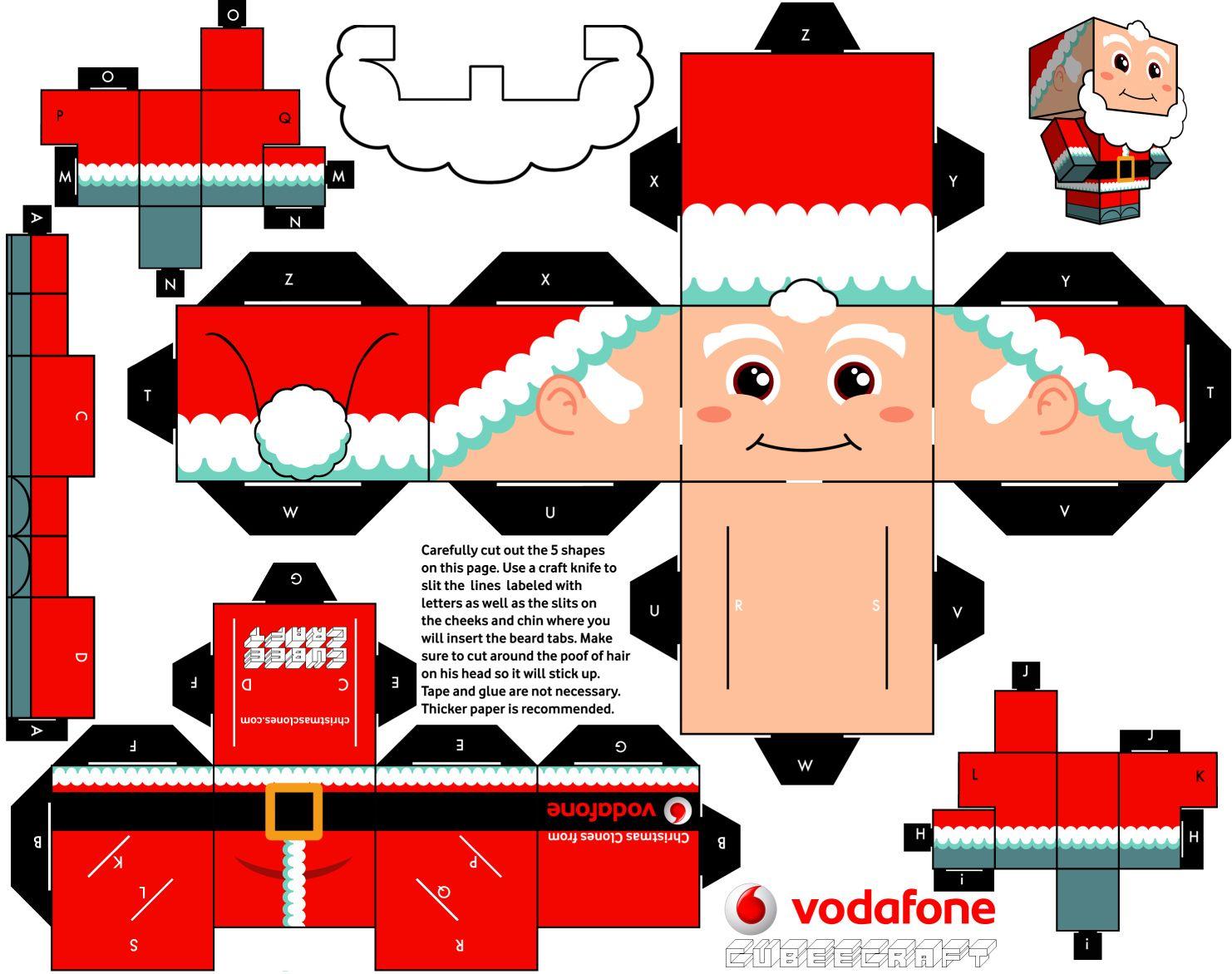 Vodafone toys images  The Christmas Clones de Cubeecraft  Pinterest  Paper toys Noel