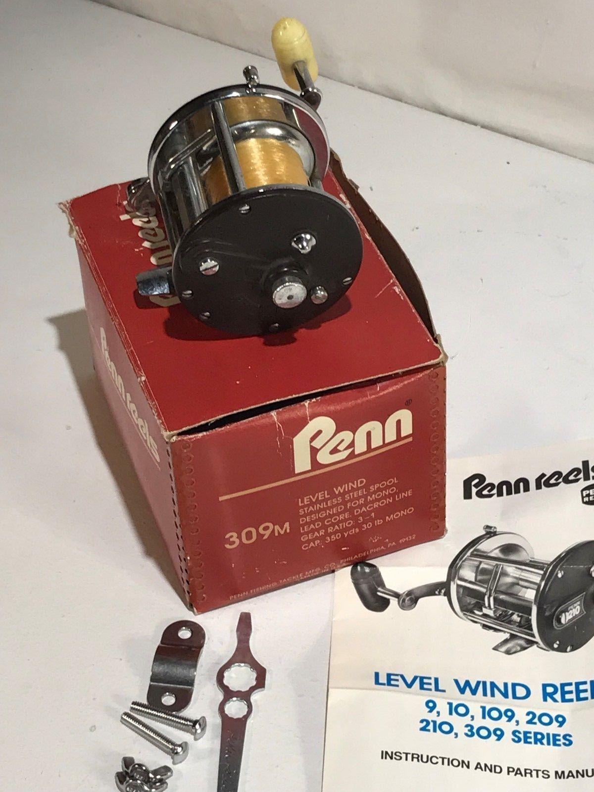 Penn 309 Level Wind Parts Diagram Schematic Diagrams Reel Vintage Peer 109 Levelwind Fishing Fish Tackle Line Reels