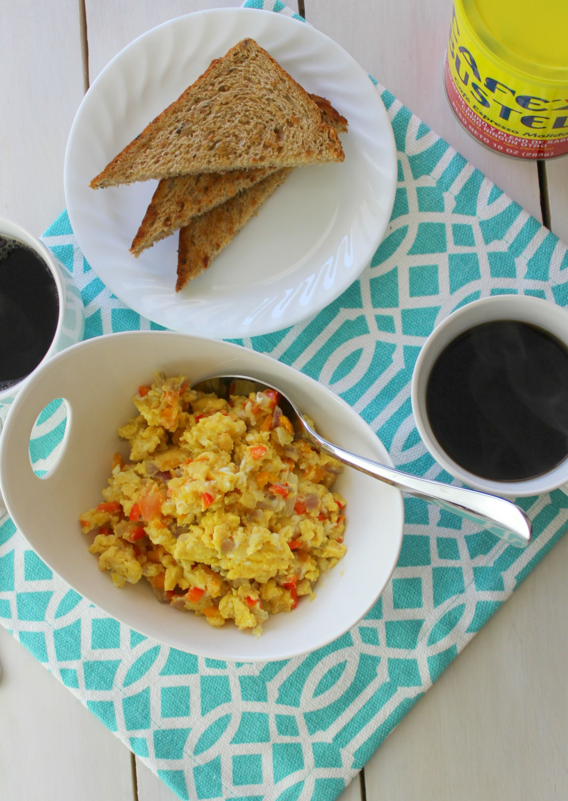 Thank God for Coffee! +Dominican Scrambled Eggs   Recipe   Breakfast ...
