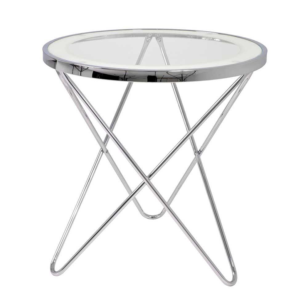 Liebenswert Glasbeistelltisch Dekoration Von Glas Beistelltisch Aus Stahl Rund Jetzt Bestellen