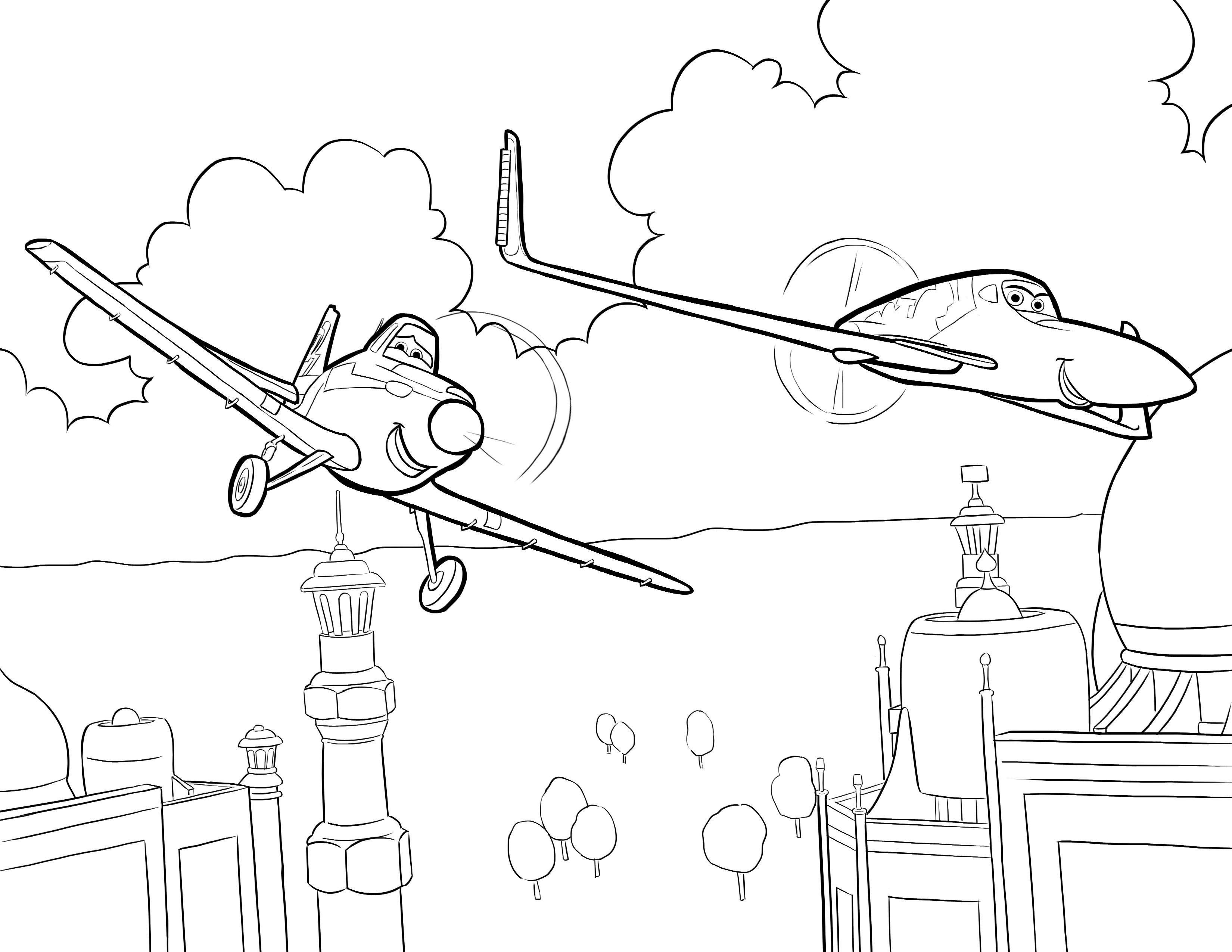 Disneys Planes Coloring Pages Sheet Free Disney Printable Color Page