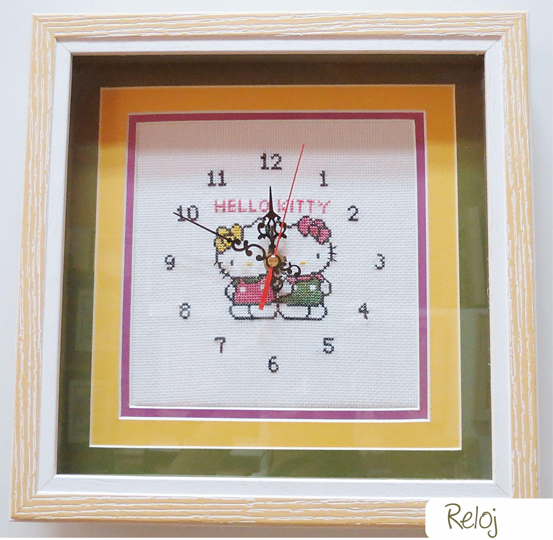 Reloj decorativo infantil con HELLO KITTY, quien nos da la hora en ...