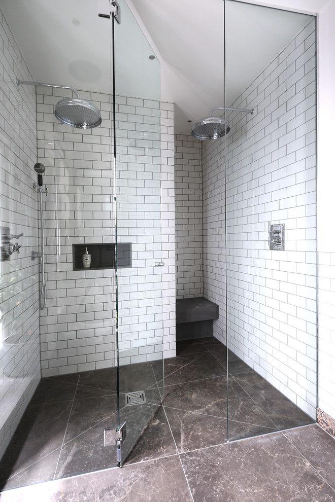 walk in shower designs two head showers frameless shower glass ...