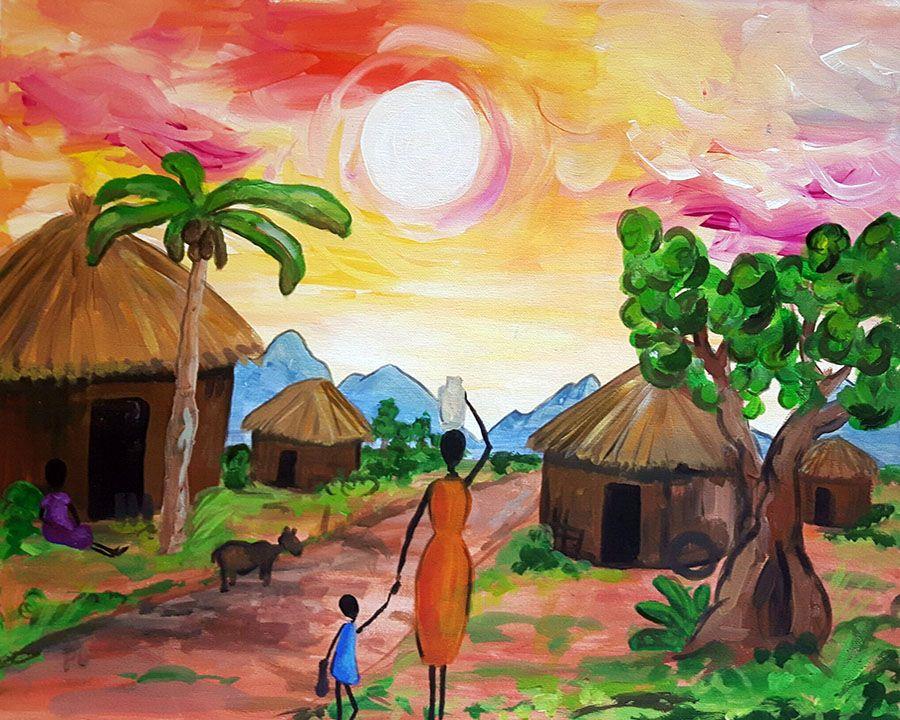 ArtMasters African Landscape | Acryl | Leinwand | Malen