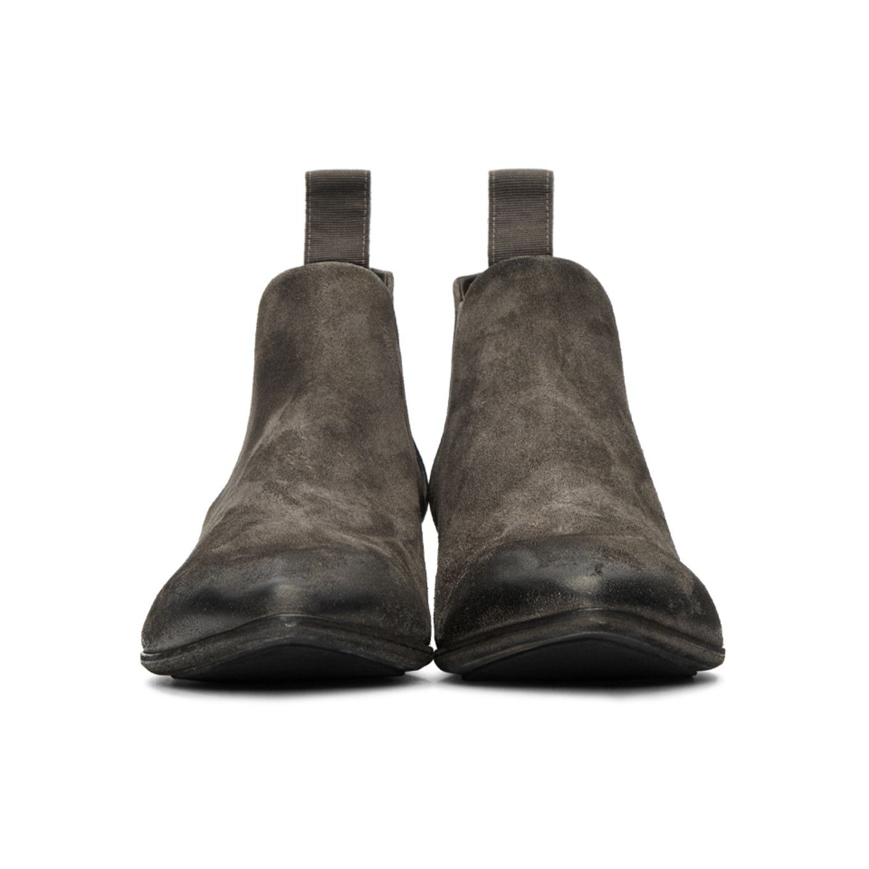 Marsèll - Grey Suede Cuneo Chelsea Boots