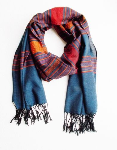 61e434f41 Silk and Cotton Scarf Shawl Wrap Women Fashion Scarves New Soft Long Thai  Craft #Handmade #Scarf