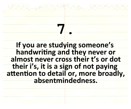 A Guide To Distraction  Handwriting Analysis