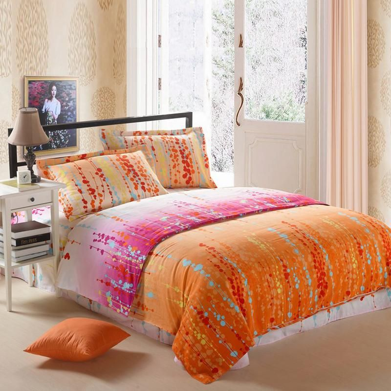 Pink and orange teen bedding