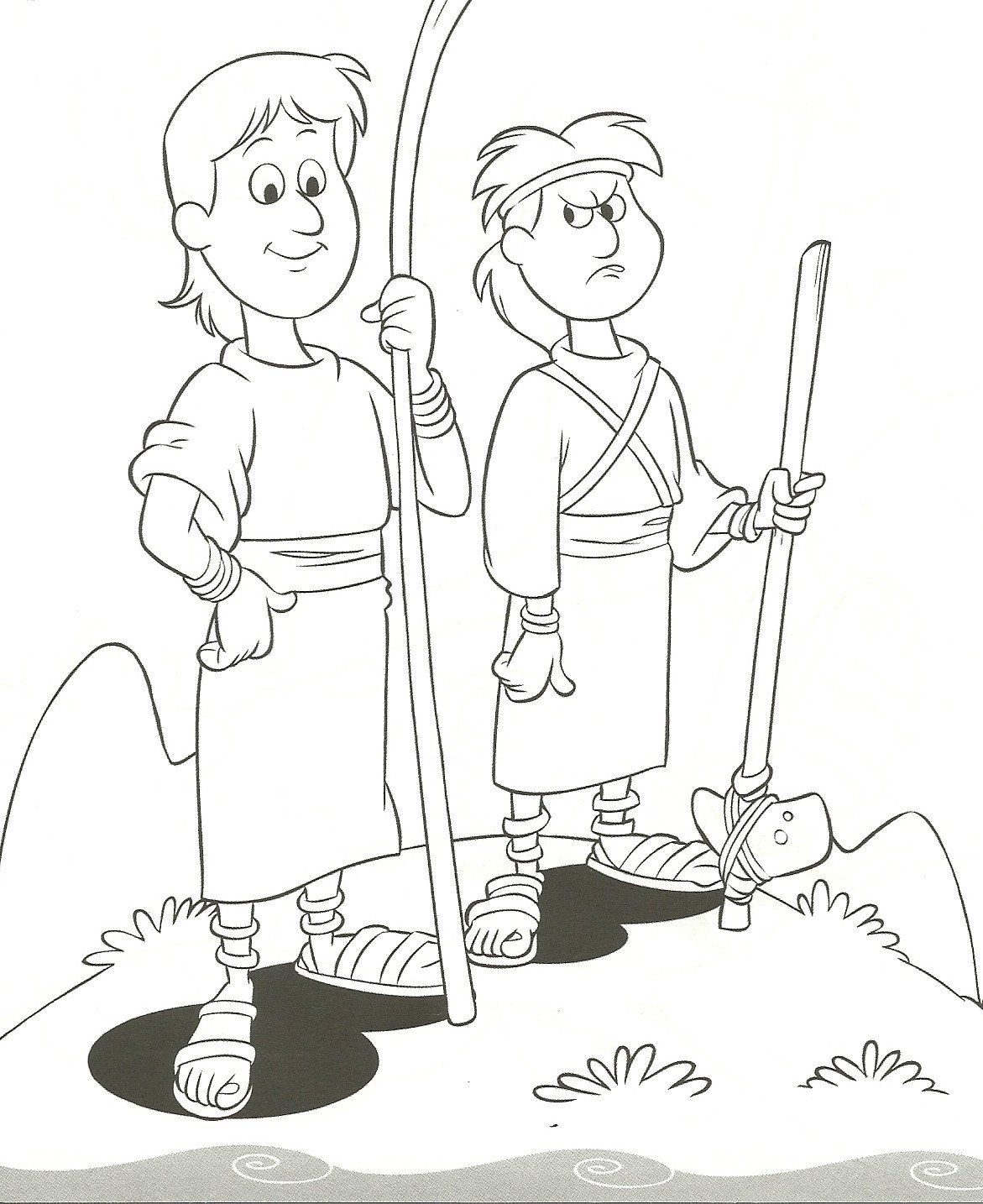 Cain And Abel Coloring Page Cain And Abel Offering