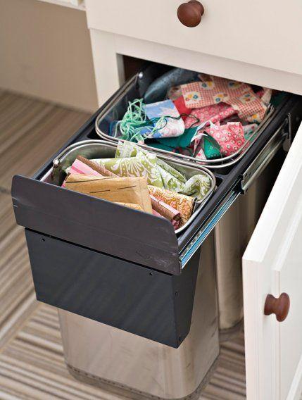 ranger ses chutes dans des poubelles de tri couture atelier pinterest poubelle de tri. Black Bedroom Furniture Sets. Home Design Ideas
