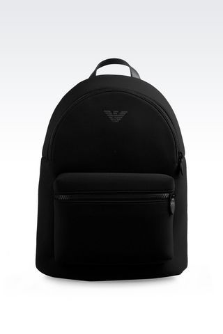 e0e24099a81a Emporio Armani Men Backpack - RUNWAY BACKPACK IN NEOPRENE Emporio Armani  Official Online Store