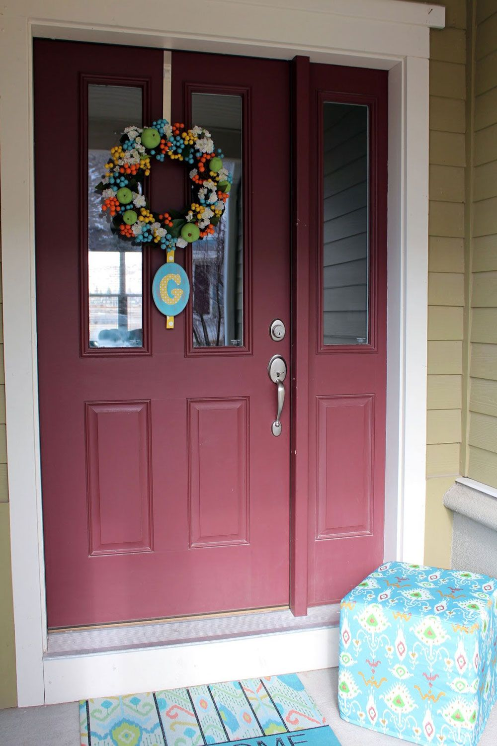 front door colors | ... Right Front Door Paint Colors : Pale ...