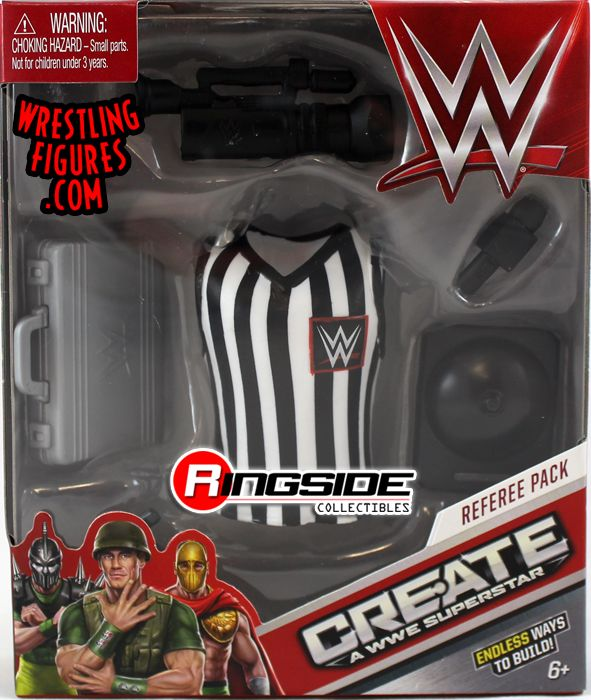 Wwe A Accessory Pack Referee Wrestling Superstar Create 08wknOP