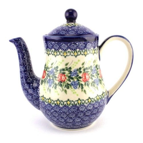 Bright new pattern #526 made by Ceramika Kalich. Anyway, all patterns look awesome in this shape of a teapot :) #PolishPottery is ready for you at http://slavicapottery.com