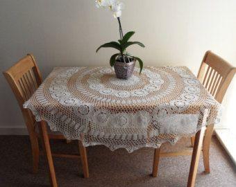 Brand New Hand Crochet Irish Lace Tablecloth by TheCrochetBoxUK