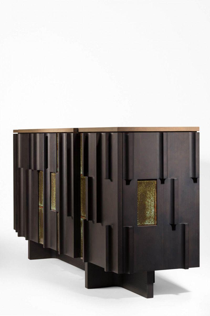 Terzo Sideboard Wood Enameledceramic Crasftsmanship Handmadeinfrance En 2020 Mobilier Contemporain Mobilier De Salon Mobilier