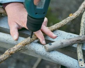 Build a Rustic Trellis. Great instructions! And I don't have to learn lashing techniques!