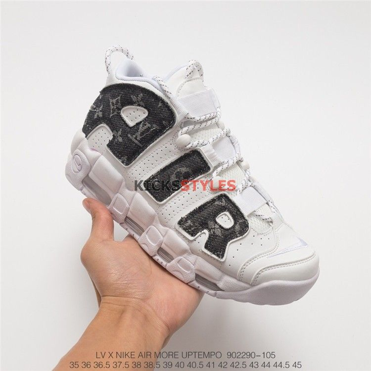 518f7d2ed6ae Custom Nike Air Uptempo Supreme Louis Vuitton Denim Black. Find this Pin and  more ...