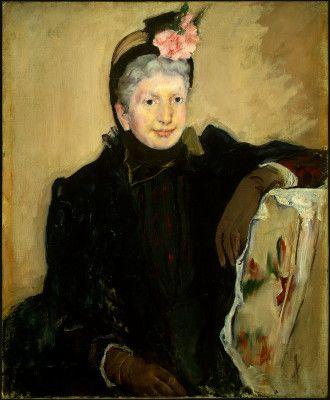Portrait Of An Elderly Lady By Mary Cassatt 1887 Oil On Canvas