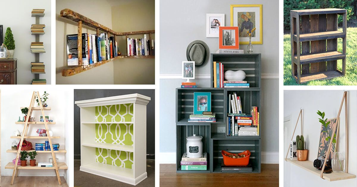 26 Trendy DIY Bookshelf Ideas that Make the Most of Your ...
