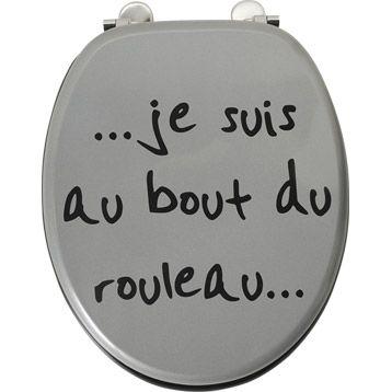 Abattant Wc Au Bout Du Rouleau Coloris Multicolore Abattant Wc Abattant Salle De Bains Avec Wc