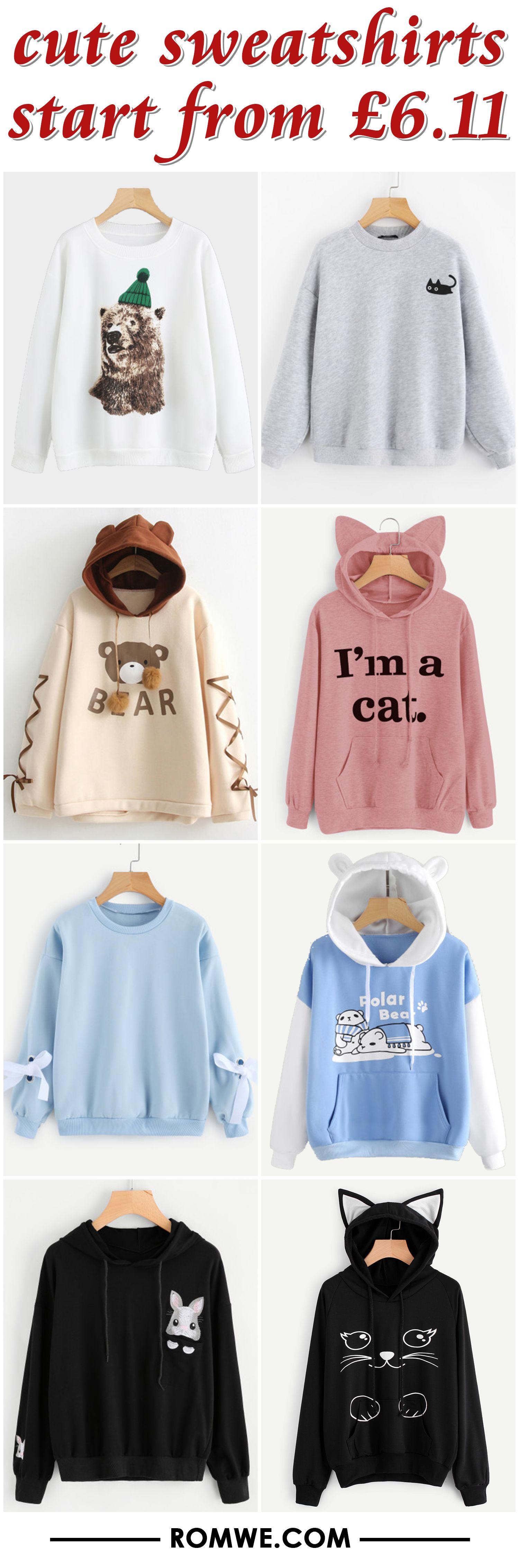 Cute Sweatshirts From 6 11 Cute Sweatshirts Hoodie Fashion Cute Casual Outfits [ 4528 x 1500 Pixel ]