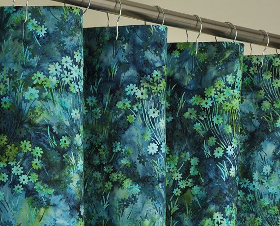 Green Shower Curtains With Curtains Teal Green Blue Batik