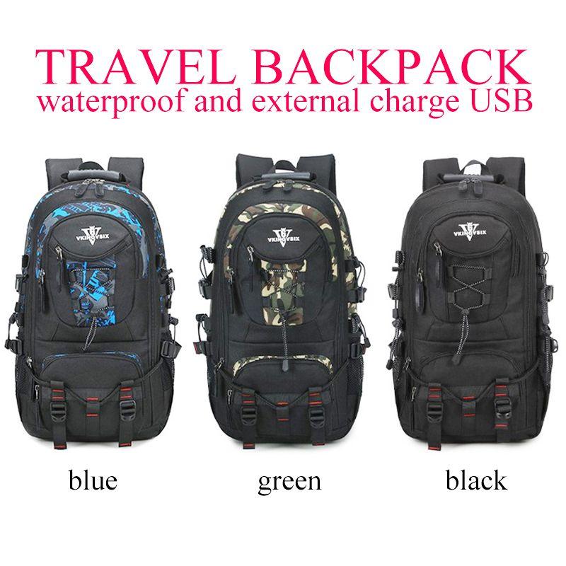 be3374a576 Cheapest VKINGVSIX USB Waterproof school bags for teenagers 14-17 inch  laptop backpack Men Women boy Travel back pack bagpack mochila