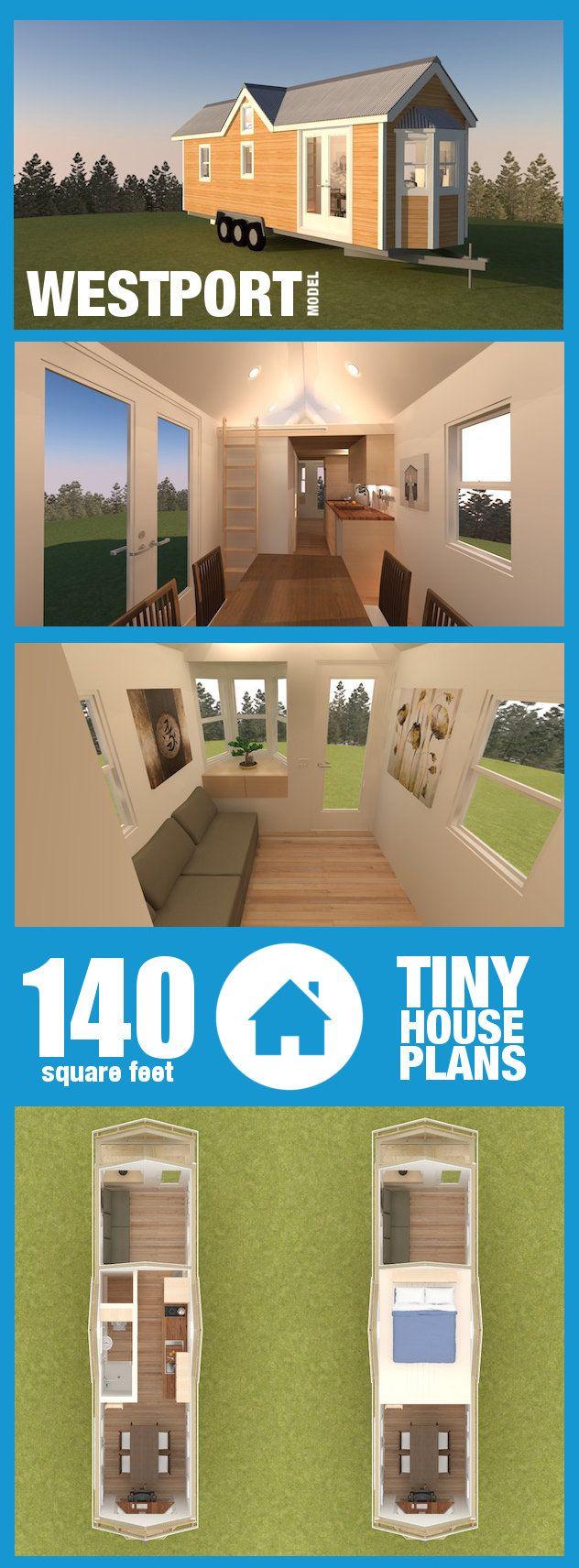 tiny house plans 198 square foot westport model see renderings