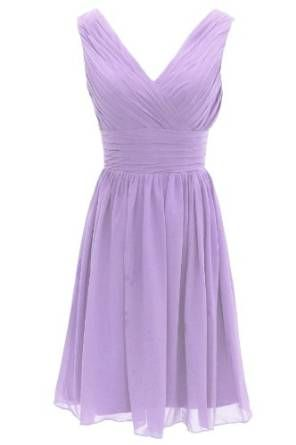 aa2db0e91760 Dresstells Sweetheart Bridesmaid Chiffon Prom Dresses Long Evening Gowns  for Juniors Size 2 Lavender