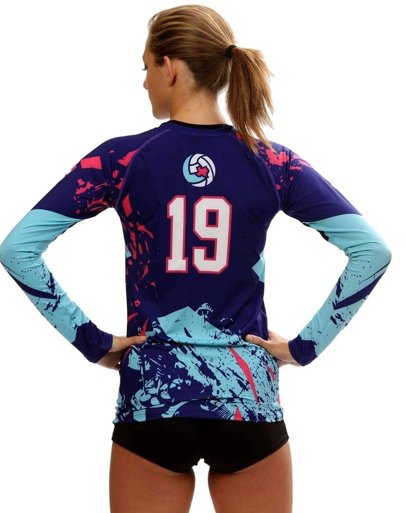 Shattered Women s Sublimated Volleyball Jersey  96d4a8cf635de
