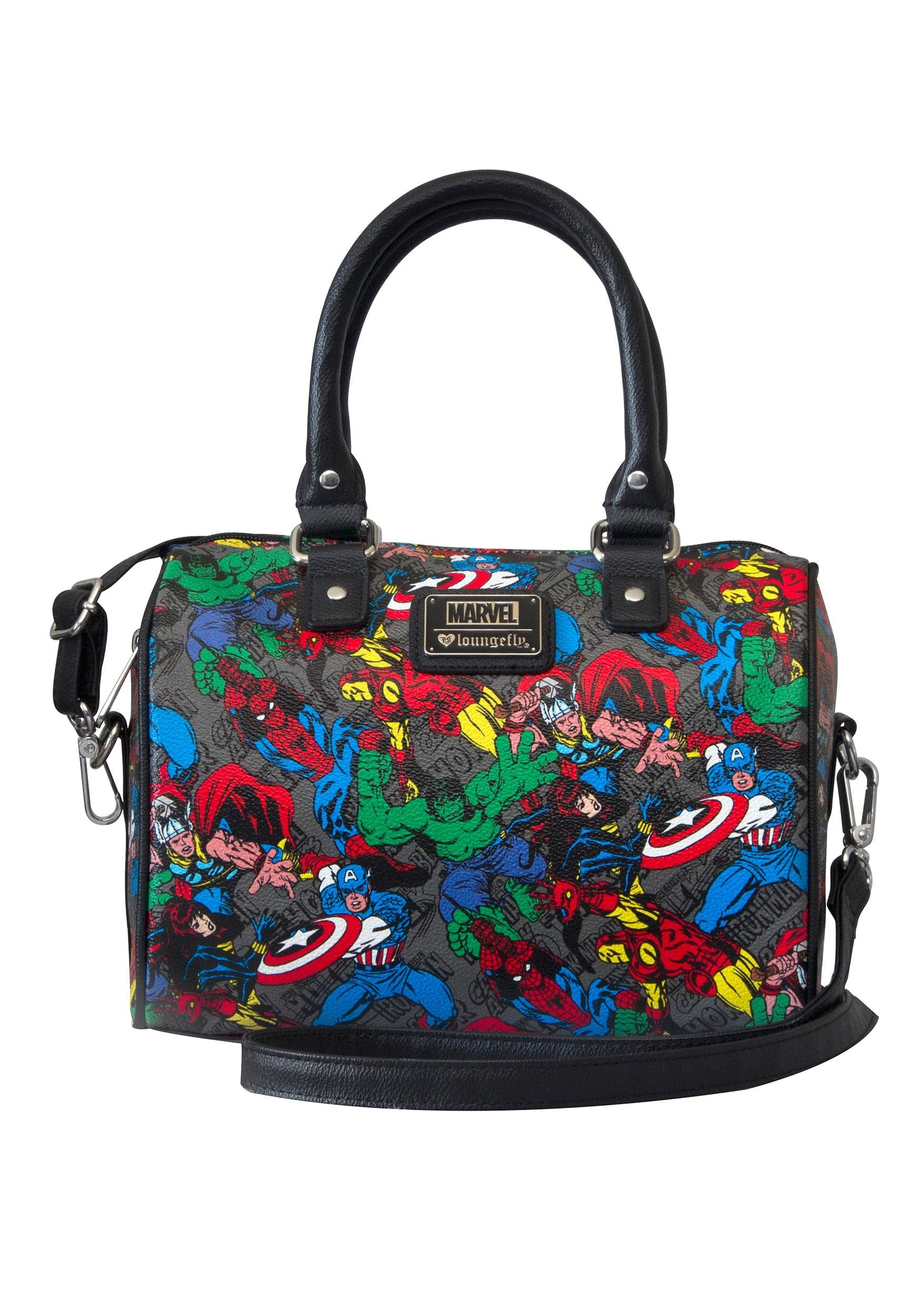 ea652fd69f4 Marvel Avengers All Over Print Faux Leather Crossbody Purse | gifts ...