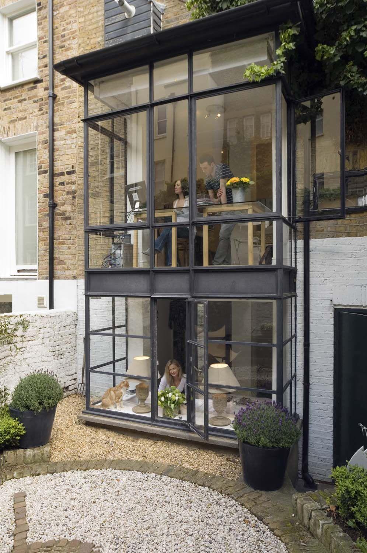 modisch akzentuiert aanbouw french doors patio pinterest haus wintergarten und wohnen. Black Bedroom Furniture Sets. Home Design Ideas