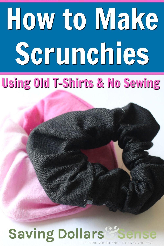 How to Make Scrunchies No Sew Instructions Using Recycled T-Shirts - Saving Dollars & Sense