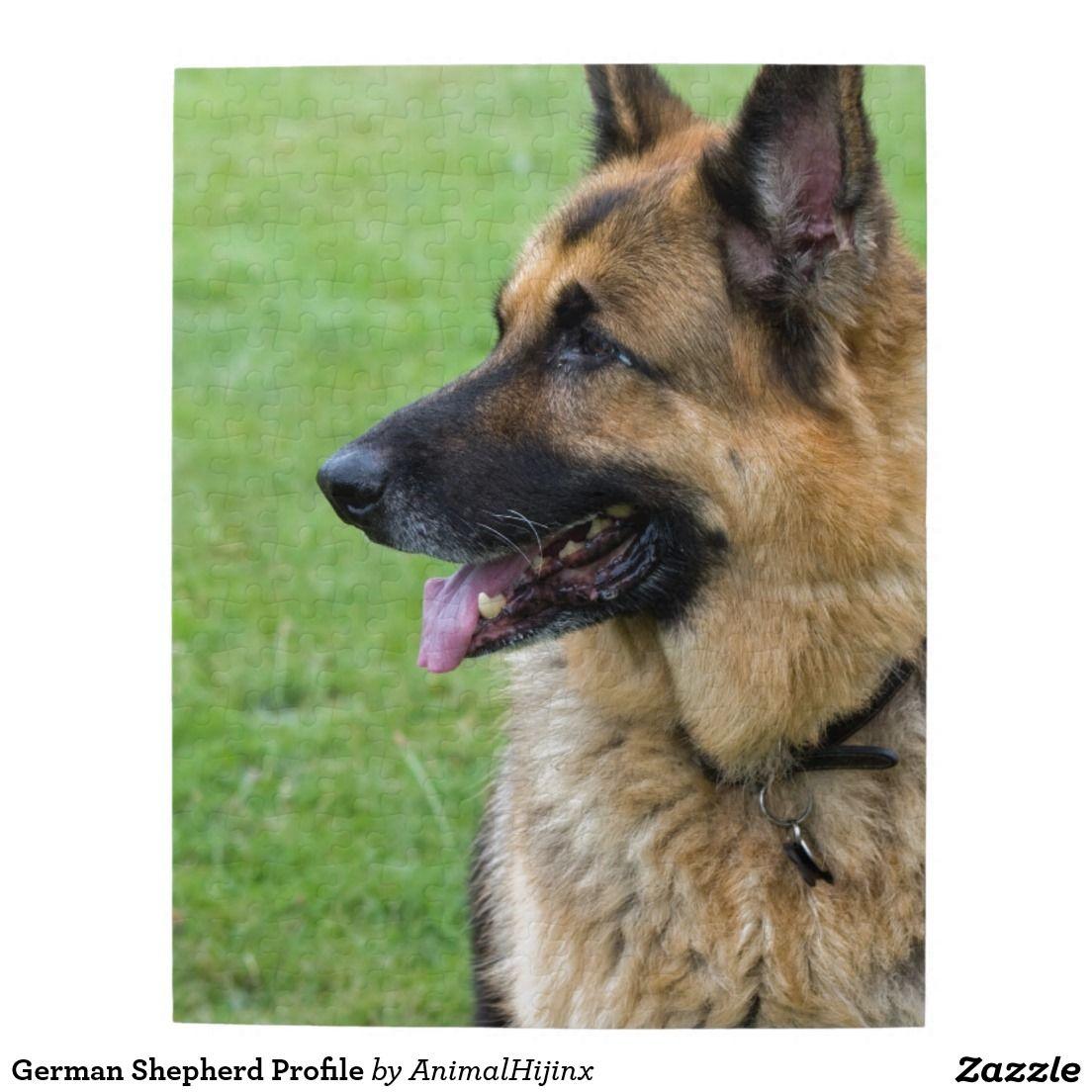 German Shepherd Profile Jigsaw Puzzle Zazzle Com German