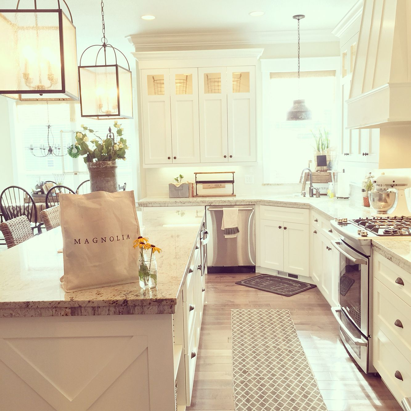Light, Bright, And Airy Was The Goal In This Modern Farmhouse Kitchen. Greyed Hardwood Floors