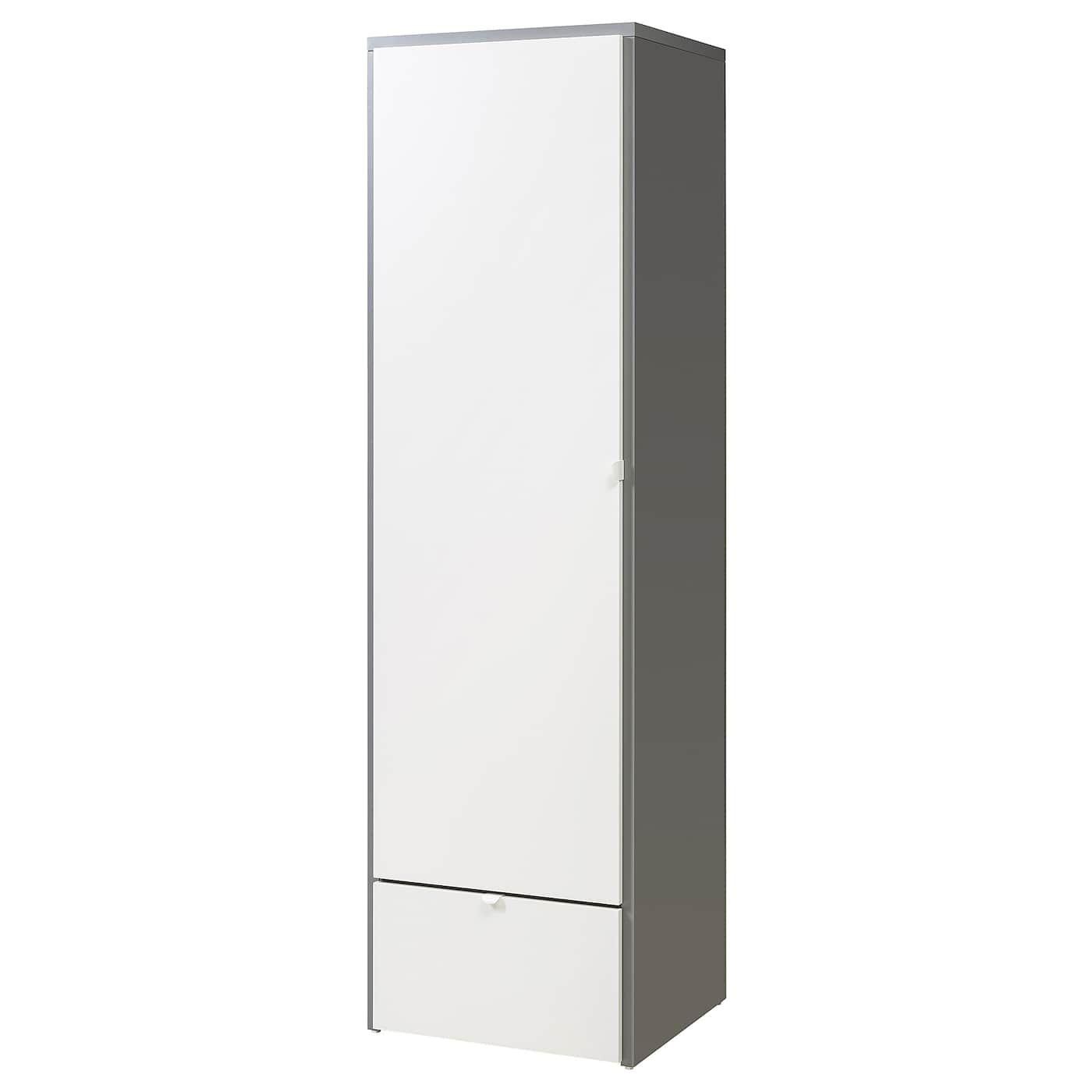 Visthus Armoire Penderie Gris Blanc 63x59x216 Cm Armoire Penderie Garde Robe Ikea Et Armoire