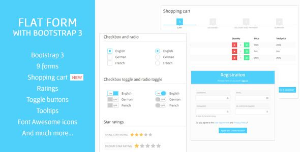 Flat Form With Bootstrap 3 Contact Form And Template