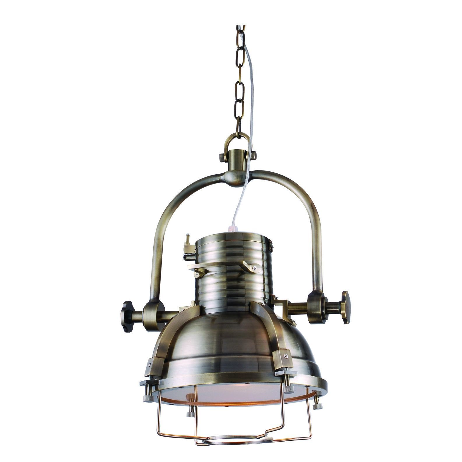 Elegant Lighting Industrial Collection Pendant lamp with Antique