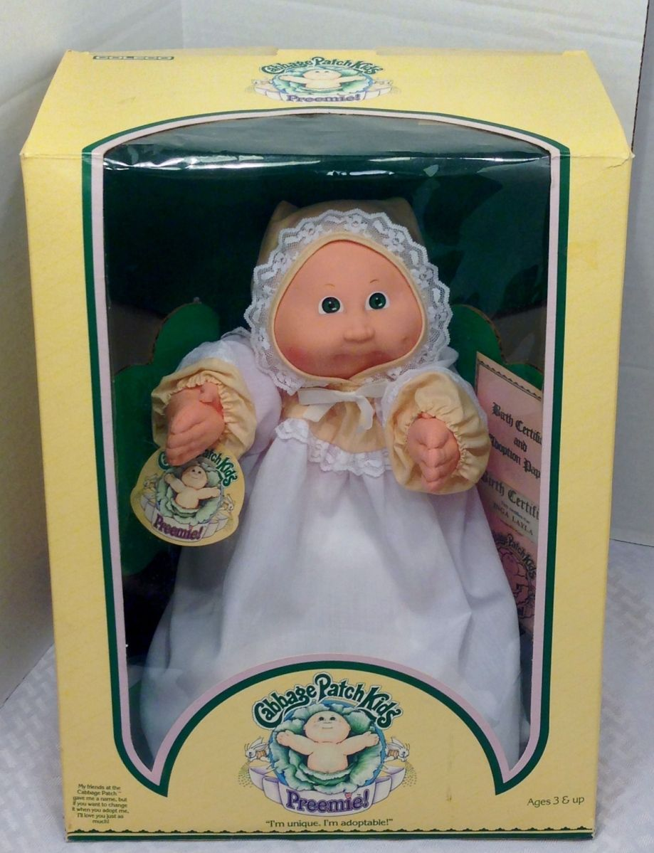 So Cute I Never Had A Brand New Preemie In Its Box 1983 Cabbage Patch Girl Baby Doll D Cabbage Patch Babies Original Cabbage Patch Dolls Cabbage Patch Dolls