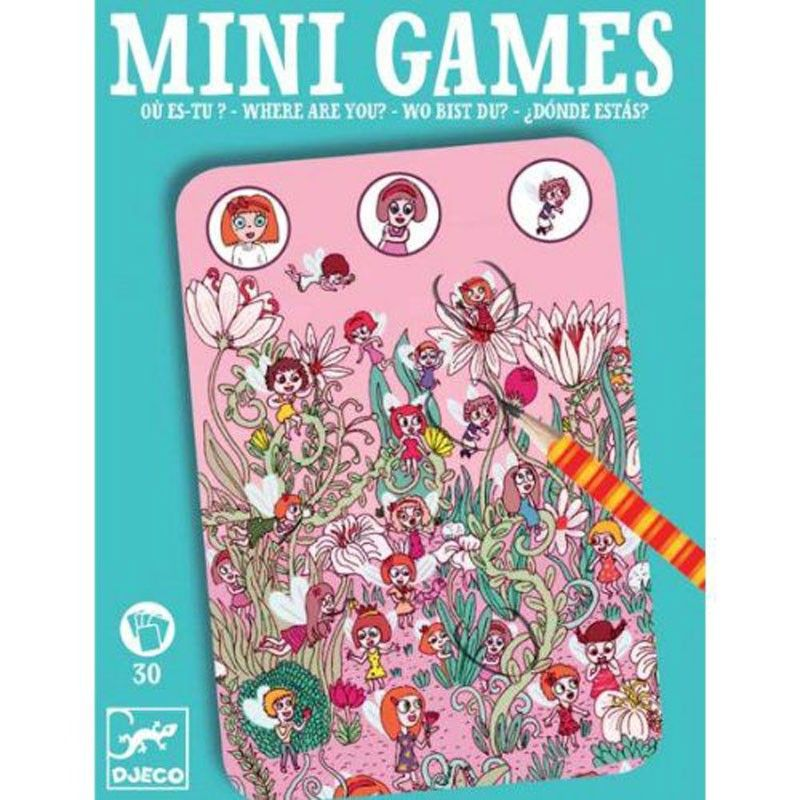 Mini Games - ¿Donde Estás Rosa? Djeco DJC-35330 Kinuma.com   Juegos y  juguetes, Viajes para niños, Juegos