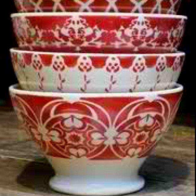 French Ceramic Sugar Bowl 1950s Folk Pottery Country Cottage: Vintage Café Au Lait Bowls